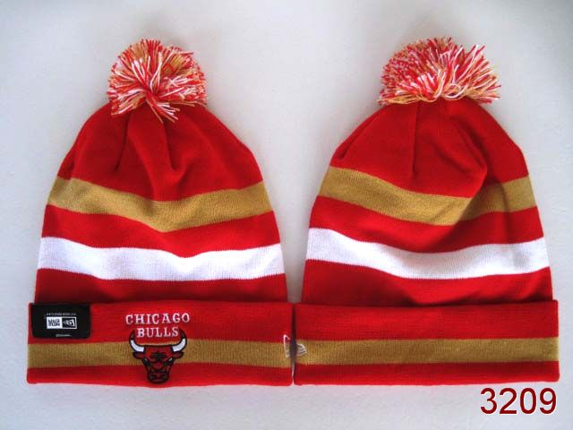 NBA Chicago Bulls Stripe Beanie 1 SG